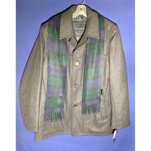 Tommy Hilfiger Wool Melton Coat w/Detachable Scarf